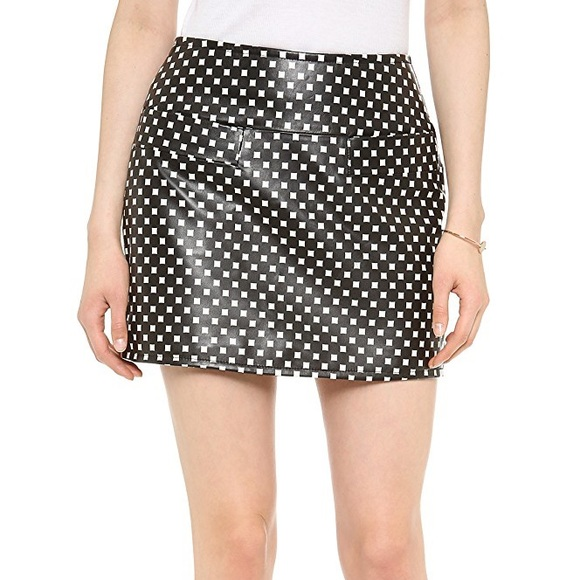 2b86510a9 Marc By Marc Jacobs Skirts | Marc Jacobs Checker Block Leather Skirt ...